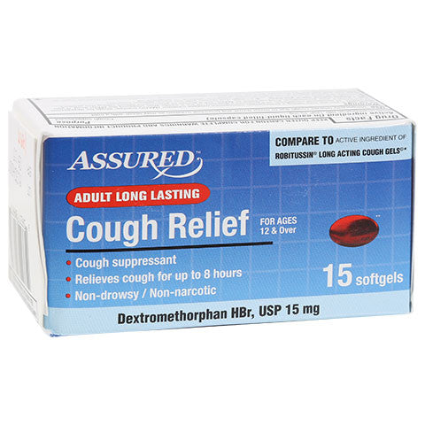 Assured Long Lasting Cough Relief Softgels, 15-ct. Packs - Dollar Store