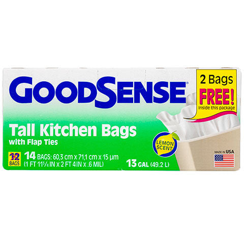BONUS! GoodSense Lemon-Scented Tall Kitchen Trash Bags, 13 gal. - Dollar Store