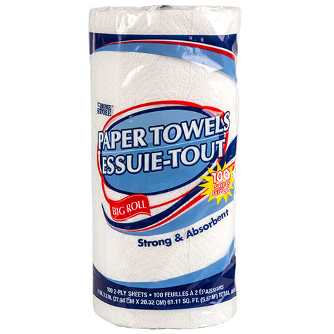 Big-Roll Paper Towels - Dollar Store