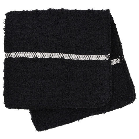 Black Terry Dishcloths with Stripes, 2-ct. Packs - Dollar Store
