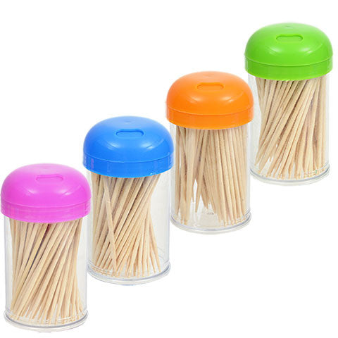 Brightly Colored Toothpick Dispensers - Dollar Store