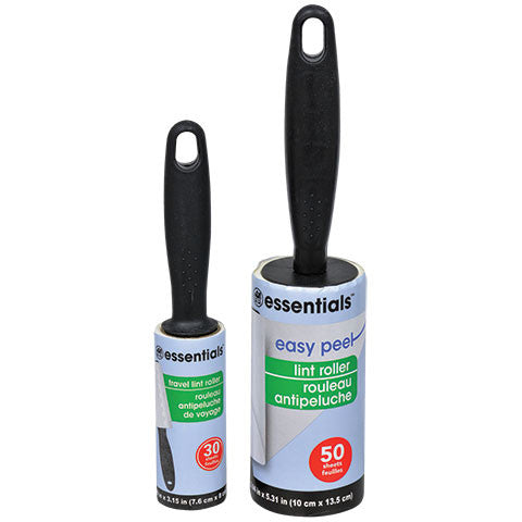 Essentials Easy-Peel Lint Rollers with Travel-Size Bonus - Dollar Store