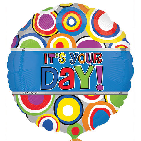 """It's Your Day!"" Foil Balloons, 18 in. - Dollar Store"