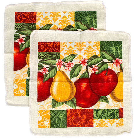 Fruit-Themed Dish Cloths, 2-ct. Packs - Dollar Store