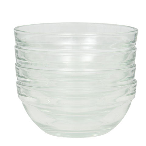 "3½"" Glass Prep Bowls, 4-ct. Sets - Dollar Store"