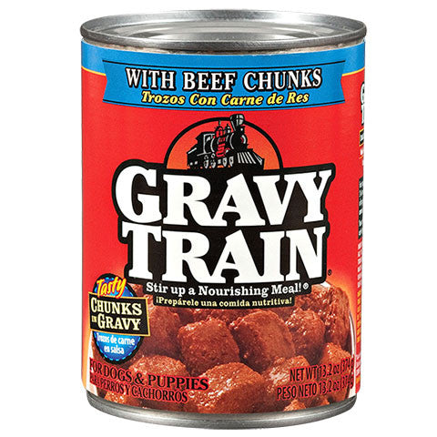 Gravy Train Beef Chunks In Gravy Canned Dog Food - Dollar Store