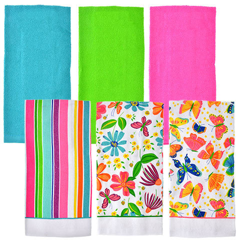 Home Collection Spring Fling Cotton Kitchen Towels - Dollar Store