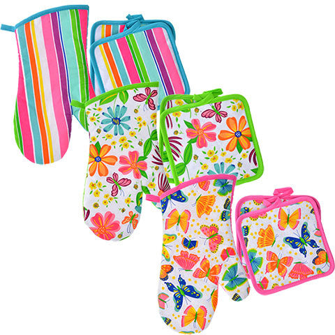 Spring Fling Oven Mitts and Pot Holders - Dollar Store