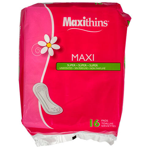 Maxithins Super Maxi Pads, 16-ct. Packs - Dollar Store