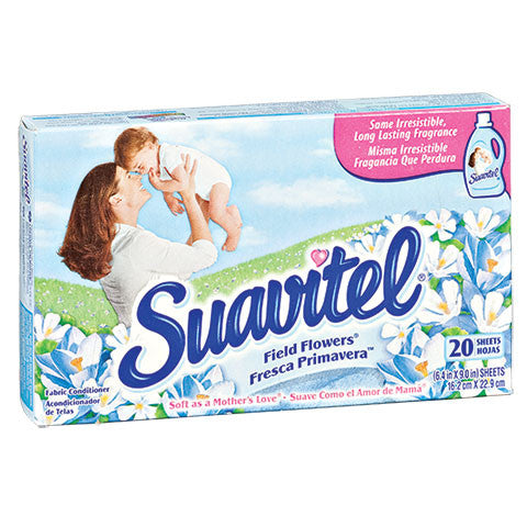 Suavitel Fabric Softener Dryer Sheets in Field Flowers Scent - Dollar Store