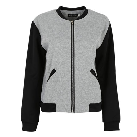 Women Bomber Jacket Long Sleeve - Dollar Store