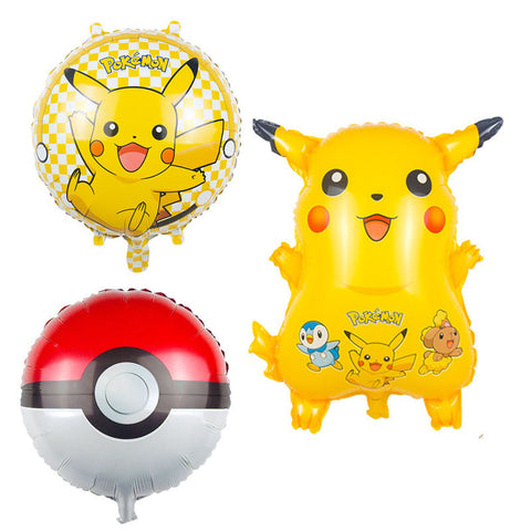 3pcs/lot pokemon Foil Balloons Inflatable toys - Dollar Store