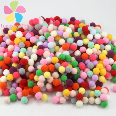 288pcs  10mm Multi option Pompoms - Dollar Store