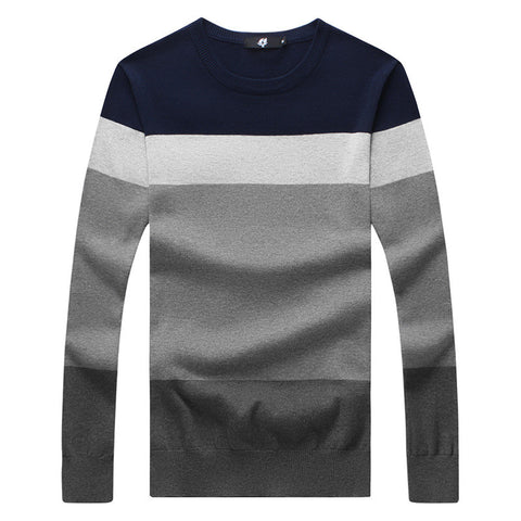 O-Neck Striped Slim Fit Sweater - Dollar Store