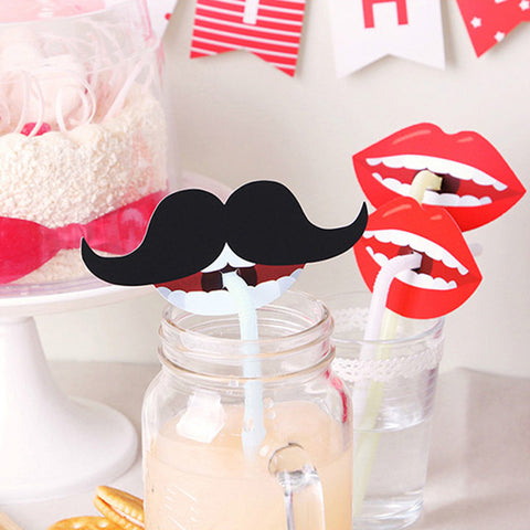10pcs Funny Party Decoration Photo Booth Beard/ Lip - Dollar Store
