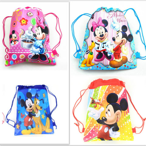 1pcs non-woven fabric backpack Minnie mickey party supplies - Dollar Store
