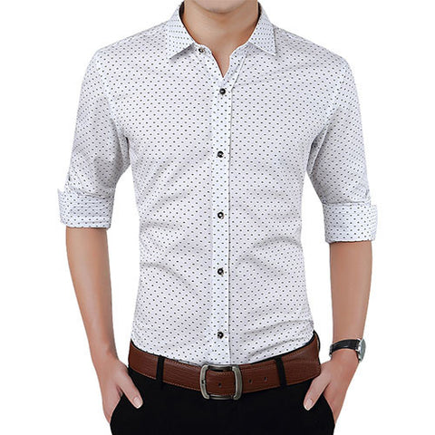 Slim Fit Men Long Sleeve Shirt - Dollar Store