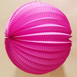 19cm Accordion Pleated Paper Lanterns - Dollar Store