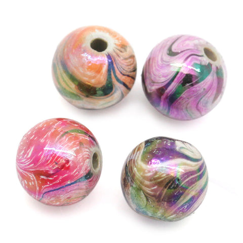 300PCs Random Mixed Acrylic Beads For Jewelry Making - Dollar Store