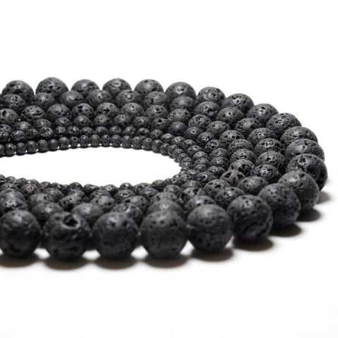 Natural Black Volcanic Lava Beads - Dollar Store