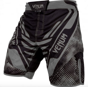 Venum Grey Technical Fight Shorts - FightFlair
