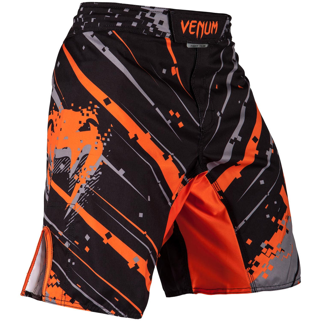 VENUM PIXEL FIGHTSHORTS - BLACK/ORANGE - FightFlair