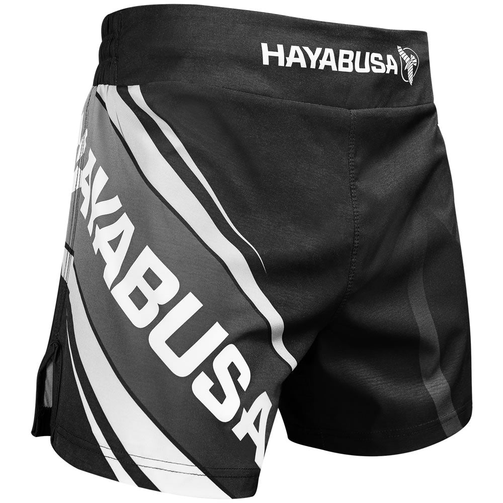 "Hayabusa ""O.G 2.0"" Kickboxing Shorts - Black/Grey - FightFlair"
