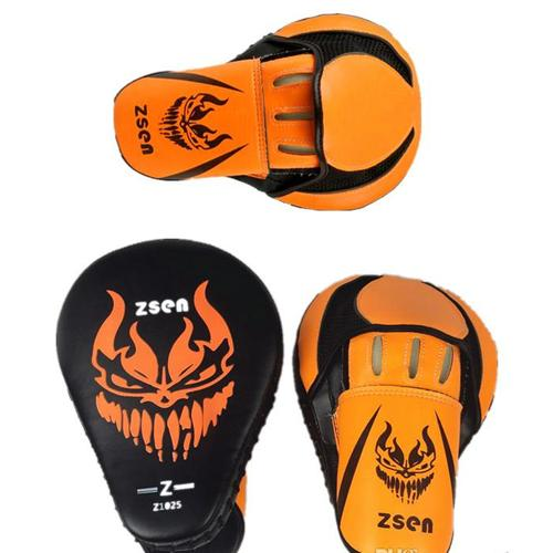 Demon Orange Focus Mitts - FightFlair