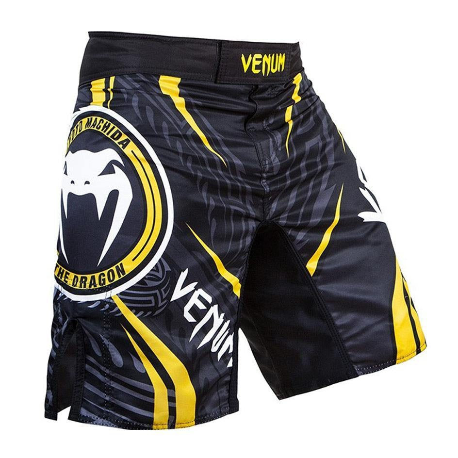 Venum Lyoto Machida Ryugin Fight Shorts – Black & Yellow - FightFlair