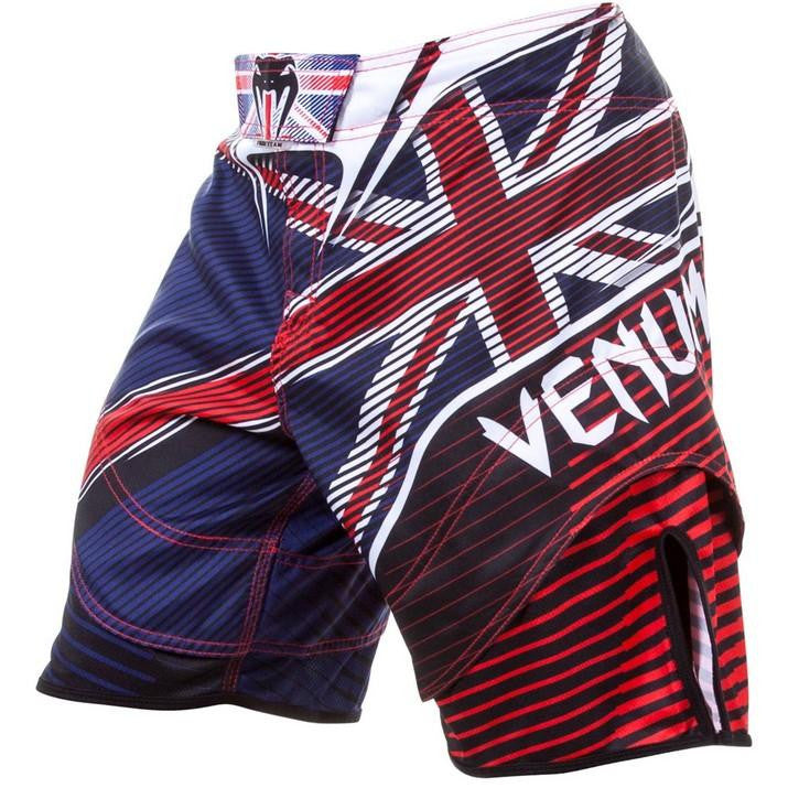 Venum UK Hero MMA Fight Shorts Blue/Red - FightFlair