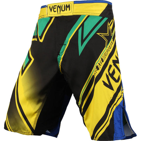 Limited Edition Venum Wanderlei Silva UFC 175 Fight Shorts Yellow/Blue/Green - FightFlair