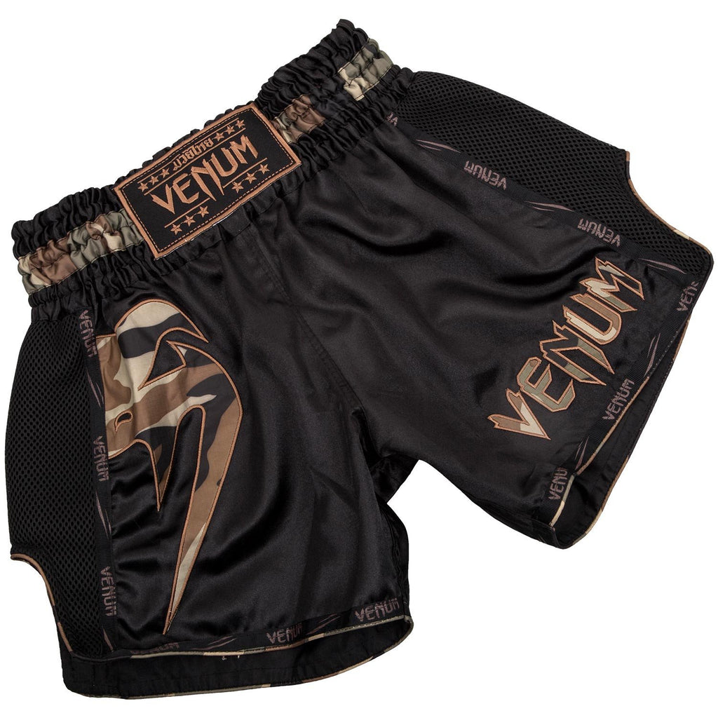 Venum Giant Muay Thai Shorts - Camo Green - FightFlair