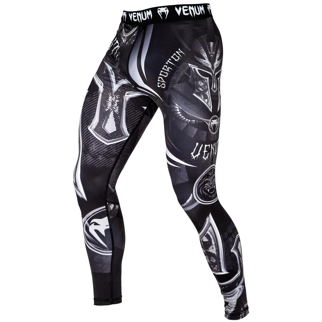 VENUM GLADIATOR 3.0 SPATS - BLACK/WHITE - FightFlair