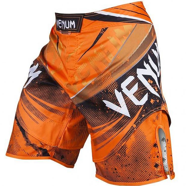 Venum Galactic Fight Shorts - Neo Orange - FightFlair