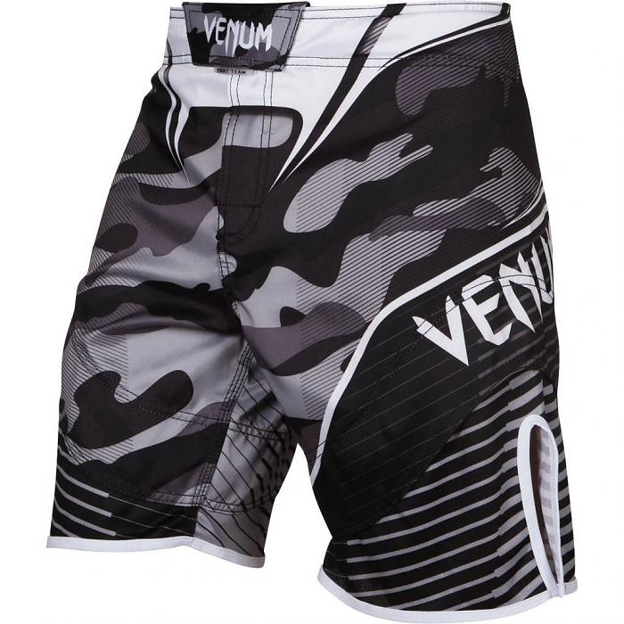 Venum Camo Hero Fight Shorts - Gray Camo - FightFlair
