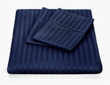 Kensington 1200TC Ultra Soft 100% Egyptian Cotton Striped Sheet Set - Various Colours