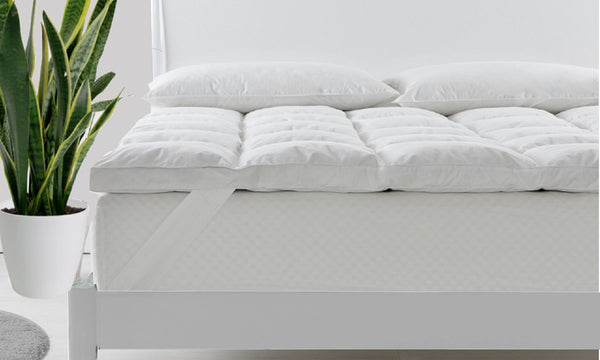 Royal Comfort 1800GSM Duck Feather & Down Mattress Topper - Various Sizes