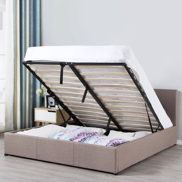 Milano Luxury Gas Lift Bed Frame With Bedhead