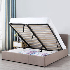 Milano Luxury Gas Lift Bed Frame with Headboard - Various Sizes and Colours