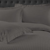 Royal Comfort 1200 Thread Count Damask Stripe Quilt Cover Set - Various Sizes and Colours