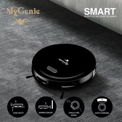 MyGenie Smart Robotic Vacuum Cleaner - Black