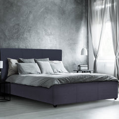 Milano Luxury Gas Lift Bed with Headboard - 2 Colours All Sizes