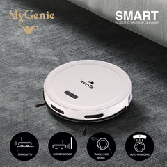 MyGenie Smart Robotic Vacuum Cleaner - White