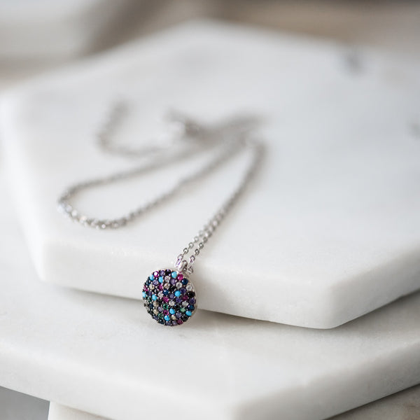 multi colored dot necklace