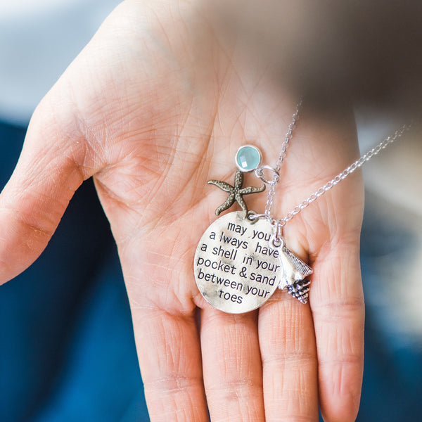 Long Beach Charm Necklace
