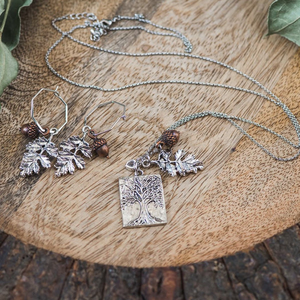 Tree of Life Mixed Charms Necklace
