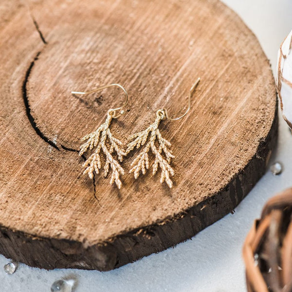 Cedar Earrings ~ Gold