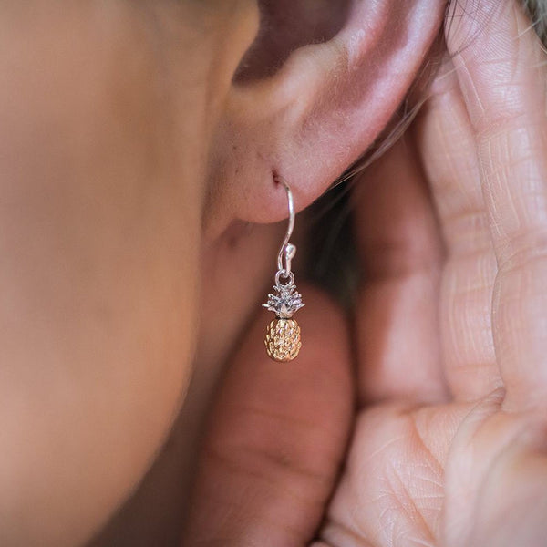 tiny dainty pineapple earrings