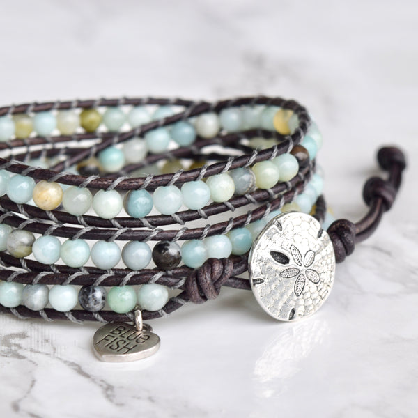 Sea Blue Multi Amazonite Wrap Bracelet