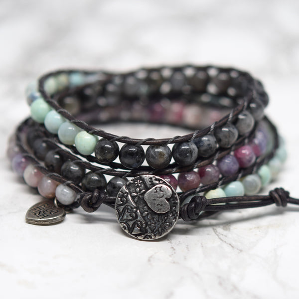 bluefish bohemian wrap bracelet